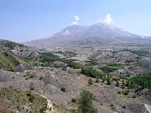large debris avalanche deposit at Mount St. Helens