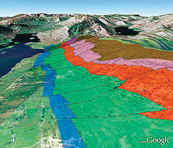 GoogleEarth-based geologic map