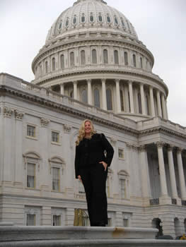 Tanya Del Valle, a graduate student at the University of Cincinnati, participates in Geosciences Congressional Visits Day.