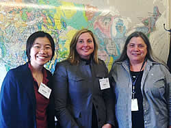 Novem Auyeung and Del Valle meet with Kathy Benedetto