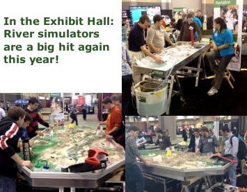 Exhibit Hall river simulators