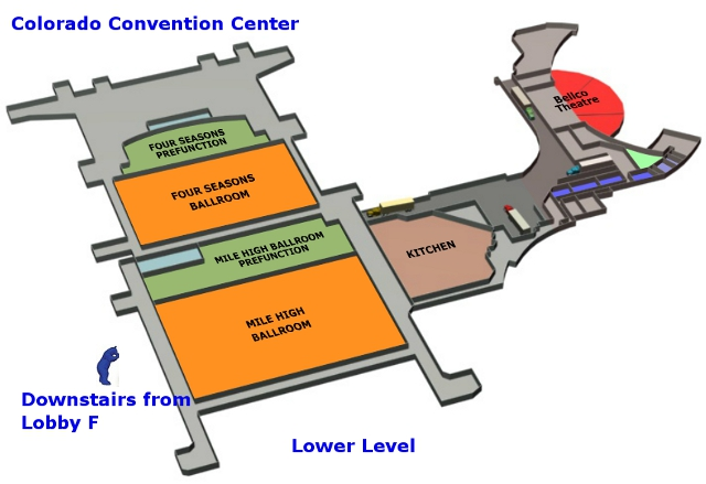 Colorado Convention Center Overhead View