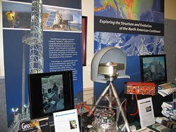 Earthscope exhibit. Click for larger image.