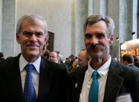 Jeff Bingaman and John Geissman