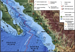 Tectonic Map of S-C Gulf of California