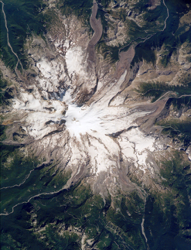 Mount Rainier satellite image