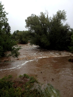 flooding in Boulder, Colo.