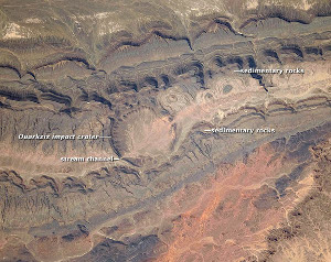 NASA Image of Ouarkziz Impact Crater