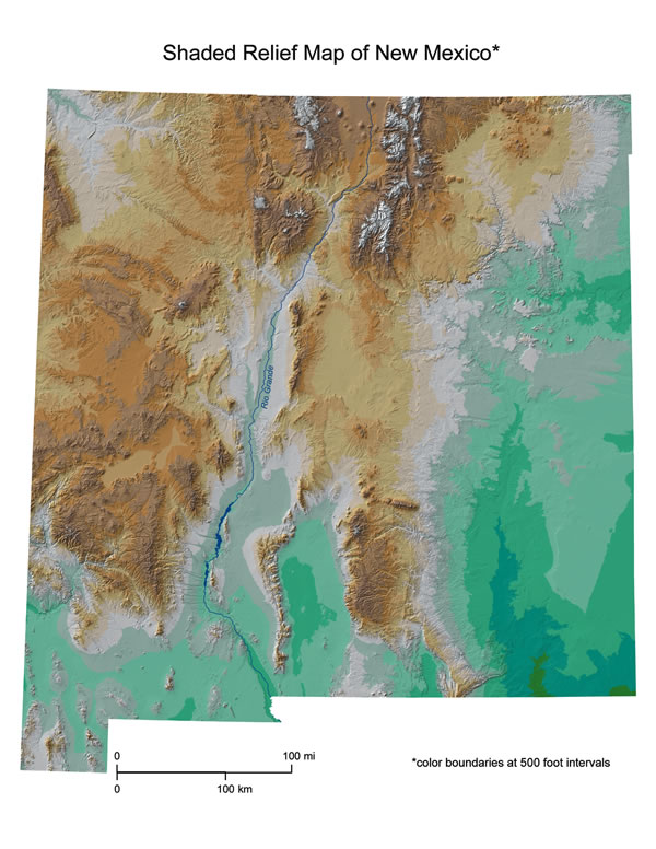 Gsa Today Cover Image: New Mexico Relief Map At Infoasik.co
