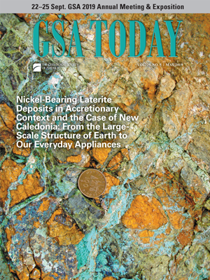 GSA Today cover, May 2019