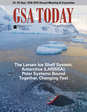 GSA Today cover, August 2019