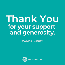 Thank you for your support and generosity. #GivingTuesday - GSA Foundation