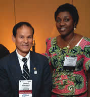 Naz with E. Wuyep, a GSA International travel grant recipient.