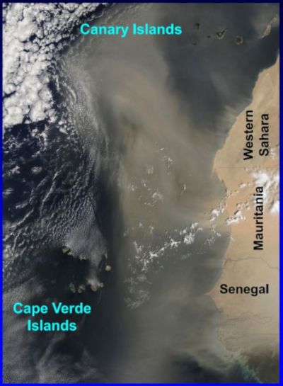 Sahara Dust Satellite View