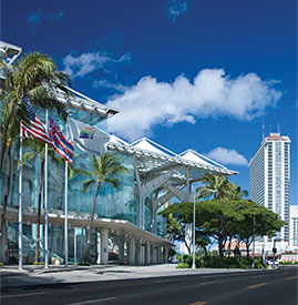 Convention Center and Ala Moana Hotel