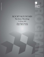2017 Rocky Mountain Section Meeting Program Book