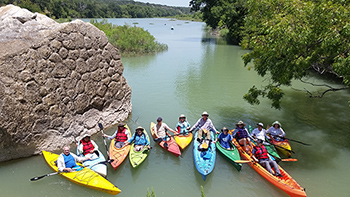 Kayaking on Llano River