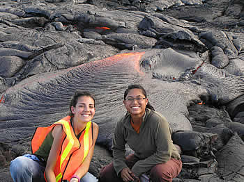 At the lava flow.