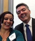 Dena Smith, Cory Gardner at 2015 GeoCVD