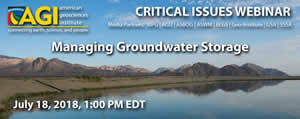 AGI Webinar on Managing Groundwater Storage