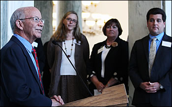 USGS Coalition Leadership Award winner Rep. Peter DeFazio (D-OR) speaks about his love of maps and their importance to Oregon
