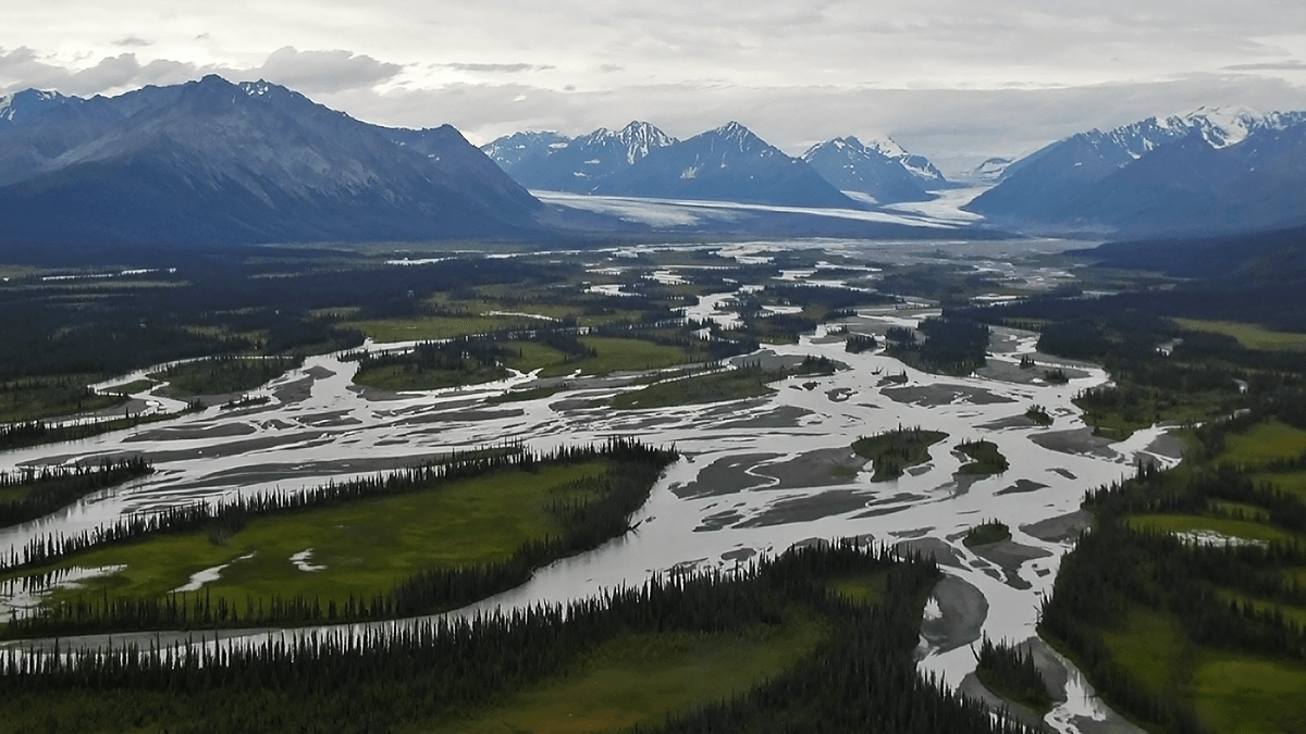 Nelchina River and Glacier; credit: Peter D. Clift
