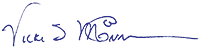Signature of Vicki McConnell